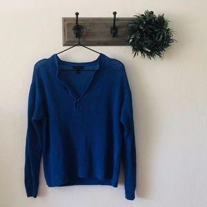 J. Crew Blue Linen Knit Sweater XS